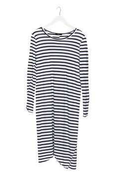 Bassike long sleeve tank dress