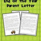 Each year seems to fly by faster then the year before.  At the end of  each school year I send this touching letter home with my students.  free  Thi...