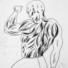 BIG BEEFY BOY #illustration #drawing 🏋🏾