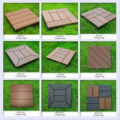 Patio Tiles Outdoor | Diy Outdoor Wpc Deck Tile/wood Floor /wood Plastic  Composite