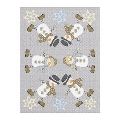 Keep warm when it's cold outside this winter with this custom blanket design that features images of two funny snowmen with snowflakes. Blue and white. Funny Snowman, Picnic In The Park, Edge Stitch, Its Cold Outside, Keep Warm, Cuddling, Plush, Blanket Design, Blue And White