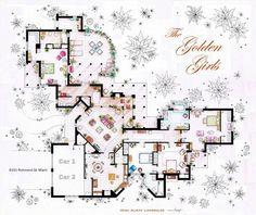 "From Golden Girls to Carrie Bradshaw: Iñaki Aliste Lizarralde's ""Famous Floorplans"""