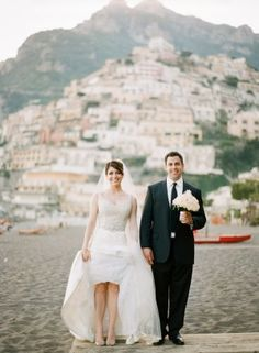 How romantic would it be to get married in Positano, Italy? | www.katemurphyphotography.com/