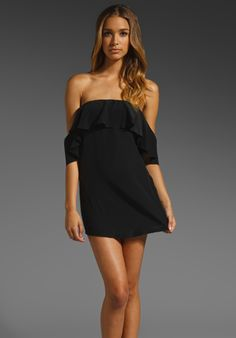 BOULEE Emily Off the Shoulder Dress in Black at Revolve Clothing - Free Shipping!