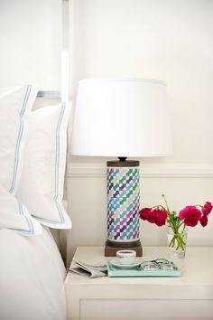 Lamp. The perfect pop in a white room
