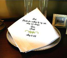 Father of The Bride Handkerchief Hankie  Hanky  by MisterandMrs, $19.95