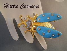 Hattie Carnegie Lady Bug Trembler Brooch Ask for the Pinterest price from Suzy's Timeless Treasures