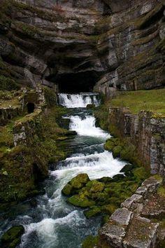 Waterfall Cave, Franche-Comté, France