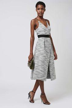 Monochromatic Jacquard Midi Dress