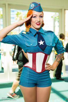 Captain America USO Girl - San Diego Comic Con 2014 Day 1 #SDCC
