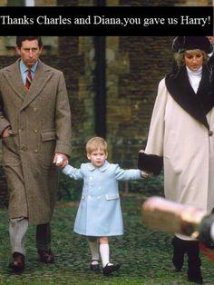 Diana, Harry and Prince Charles