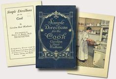 """""""Simple Directions For The Cook"""" by Caroline Reed Wadhams from 1917 in PDF"""