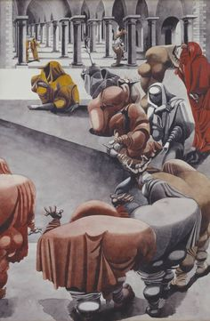 Edward Burra 1905–1976 Title [title not known] From Wake Date 1940 Medium Gouache and watercolour on paper