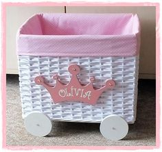 Košík na hračky pre malú PRINCEZNÚ