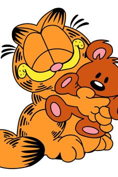 Garfield really loves is stuff teddy bear pooky
