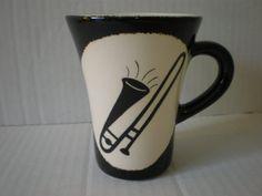 Ceramic musical mug featuring Trombone by Inveramics on Etsy, $35.00