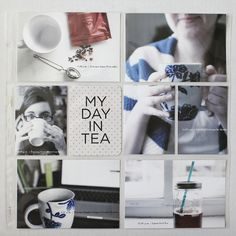 Tea themed project life page by Caiti from Roots, Wings & Wanderings. Love this idea! scrapbook project life