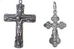 Серебряные крестики: православные и католические
