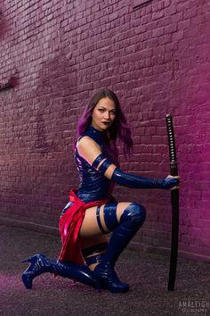 Epic Cosplay, Amazing Cosplay, Cosplay Girls, Cool Costumes, Cosplay Costumes, Psylocke, American Comics, Geek Girls, Marvel