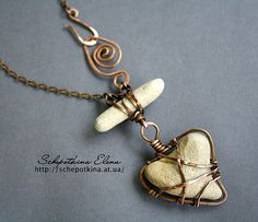 Necklace |  Elena Schepotkina... ***like her wire wrapping technique.