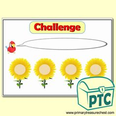 Garden Centre Role Play Resources - Primary Treasure Chest Number Activities, Teaching Activities, Teaching Ideas, Printable Number Line, Play Number, Line Math, Sunflower Images, Ourselves Topic, Math Challenge