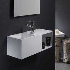 Le solid surface est un matériau haut de gamme et facile d'entretien. Ce lave-mains sera parfait pour apporter un petit côté chic à votre pièce. Lave Main Design, Solid Surface, Guest Toilet, Marble Bath, Bathroom Basin, Small Places, Wet Rooms, Corian, Powder Room