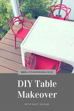 DIY Table makeover w