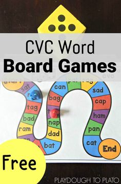 CVC Word Board Games