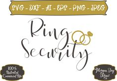 Ring Security SVG - Wedding SVG - Wedding Clip Art - Ring Bearer svg - Bride SVG - Files for Silhouette Studio/Cricut Design Space by MorganDayDesigns on Etsy