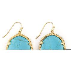 Kendra Scott Danielle Earrings ($61) ❤ liked on Polyvore featuring jewelry, earrings, turquoise, 14k earrings, 14 karat gold jewelry, cabochon jewelry, 14k jewelry and kendra scott jewelry