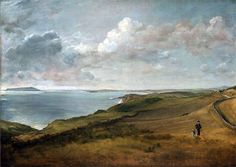 Weymouth Bay from the Downs above Osmington Mills,undated | Constable | Boston Museum of Fine Arts Massachusetts USA