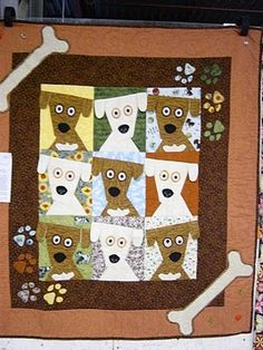 dog quilt ... someone has to make this for me! lol!