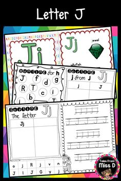 This pack contains no prep/print and go activities for the letter J. Includes; 1) Posters x 2 2) Letter Hunt 3) Case Sorting 4) Letter Sorting 5) Handwriting 6) Bracelets © Tales From Miss D