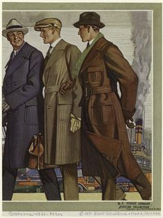 Men Wearing Coats, United States, 1920s.] From New York Public Library Digital Collections.