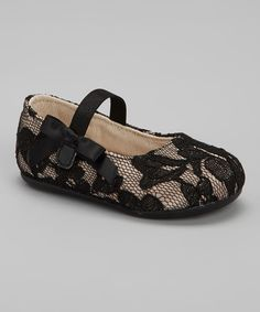 Take a look at this Designer's Touch Black Lace Mary Jane on zulily today!