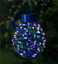 Hanging Solar Lantern Decoration, Butterfly #butterfly #home #decor #outdoor