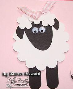 Sheep card close up pattystamps.com