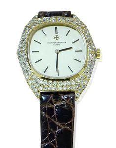 Vacheron Constantin Geneve Watch  Vacheron Constantin Geneve  Schweizer Damenarmbanduhr mit 1,122ct Diamanten in Gold