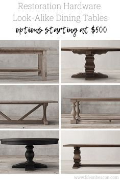 A round-up of the best Restoration Hardware Dining Table dupes. Gorgeous heavy wood tables that are sure to garner compliments, at a fraction of the price. Restoration Hardware Dining Table, Restoration Hardware Dining Room, Restoration Hardware, Restoration Hardware Table, Dining Table, Table, Restoration Hardware Sectional, Restoration, Beautiful Bedroom Decor