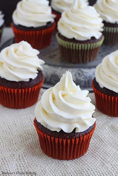 Chocolate cupcakes with vanilla bean buttercream recipe