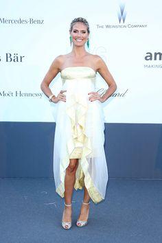 Heidi Klum de Marchesa - Gala amfAR en Cannes 2013