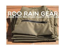 Roo Wyda is raising funds for Roo Rain Gear - Made From Recycled Plastic Bottles on Kickstarter! Reycled plastic bottles + Kids, Adults or Dogs = Roo Rain Gear. The hottest new rain poncho. Rain Poncho, Rain Gear, Earthship, Recycle Plastic Bottles, Eco Friendly, Recycling, Cool Stuff, Kids, Products