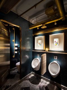 Details of the overall and category winners, and images of the winning projects, from the sixth year of the Restaurant and Bar Design Awards in Restaurant Bad, Toilet Restaurant, Restaurant Bathroom, Decoration Restaurant, Restaurant Interior Design, Bathroom Interior Design, Bathroom Designs, Toilette Design, Restroom Design