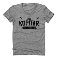 Anze Kopitar Athletic K Los Angeles Officially Licensed NHLPA Womens Scoop Neck S-XL
