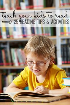 With this list of 25 Ways to Teach Your Kids to Read, your kids will develop reading skills without even realizing they are learning!