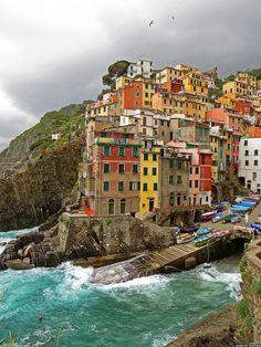 Colors of Liguria, Riomaggiore, Italy by ratexla
