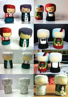 Put to use Wine Corks on the market to be used for trade initiatives like beer cork wreaths, stopper boards, wedding favors and a lot more. Wine Cork Art, Wine Cork Crafts, Wine Corks, Recycled Crafts, Diy And Crafts, Diy For Kids, Crafts For Kids, Wine Cork Ornaments, Wine Cork Projects