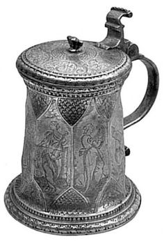 German tankard, 2nd half of the 16th century.