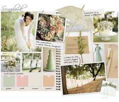 bush wedding scrapbook inspiration - like the outdoors theme and the pastels