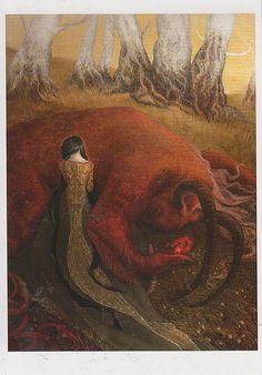 Oksana Fomina illustration from 'Beauty and the Beast' Comic Collage, Flower Artists, Art Et Illustration, Fairytale Art, Arte Horror, Dark Art, Beauty And The Beast, Beauty Beast, Dragons